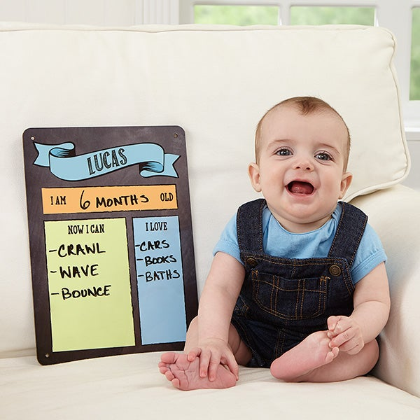Personalized Baby Dry Erase Sign - Baby Month By Month - 16732