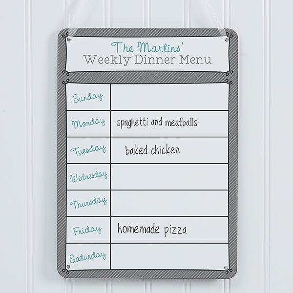 Custom Personalized Dry Erase Sign - Our Weekly - 16733