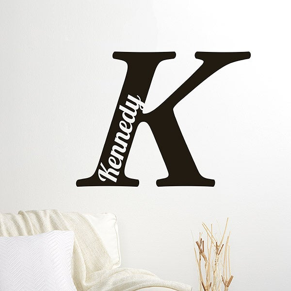 Personalized Initial Vinyl Wall Art - 16735