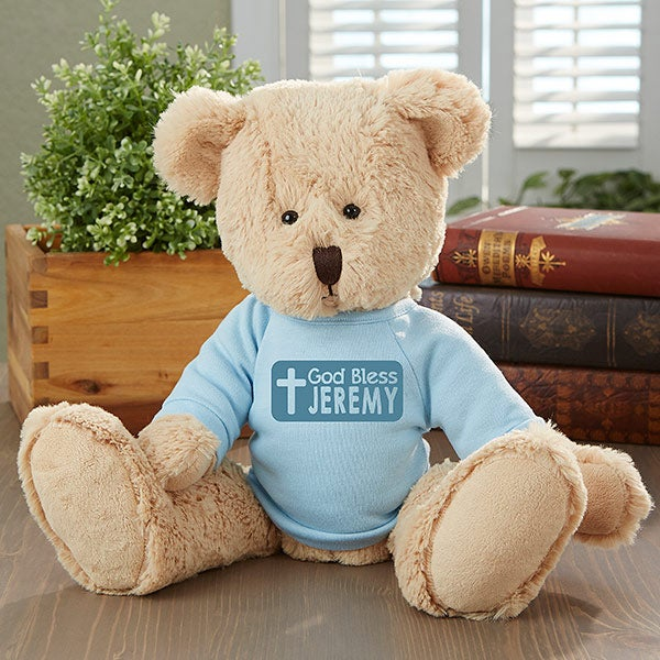Personalized Religious Teddy Bear - God Bless - 16738