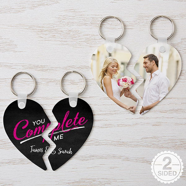 Personalized Heart Puzzle Keychains - You Complete Me - 16749