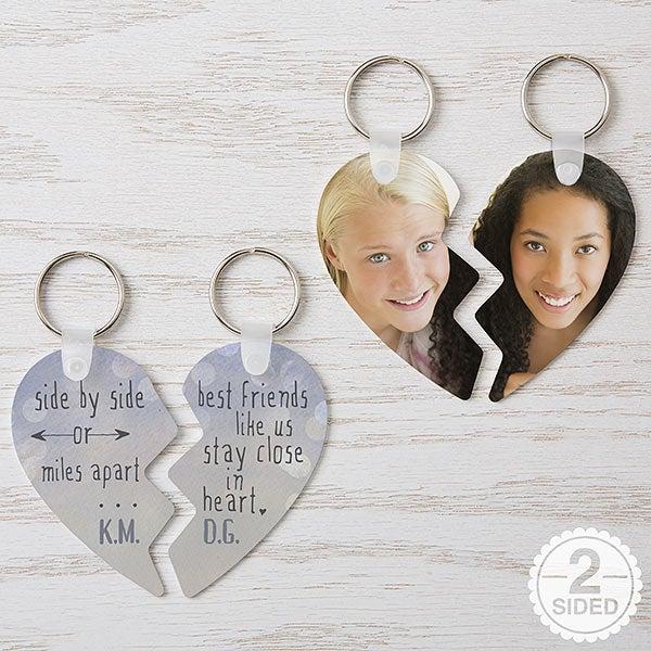 Personalized Break Apart Heart Keyring - Best Friends - 16750
