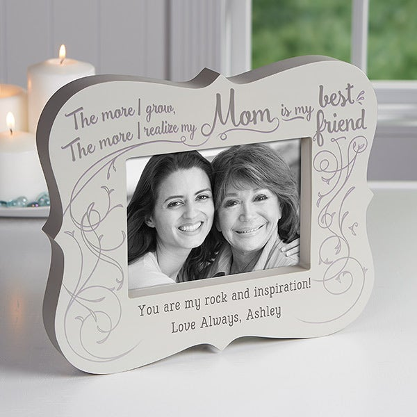 Personalized 5x7 Picture Frame Block - Best Friend Mom - 16761