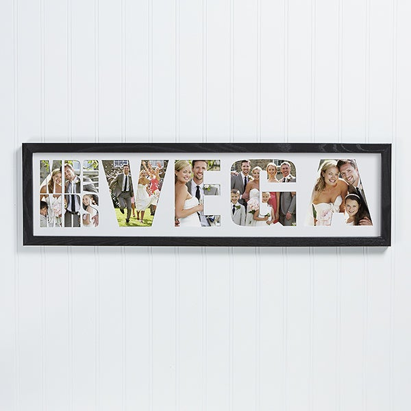 Mr. & Mrs. Personalized Wedding Photo Collage Frame