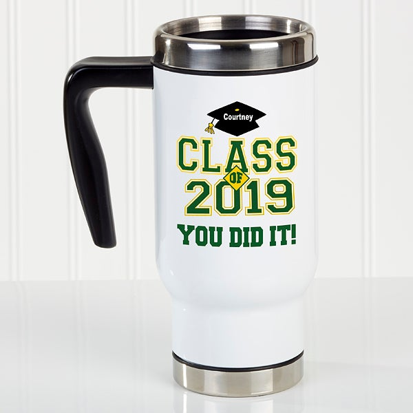 Personalized Graduation Travel Mugs - Cheers to the Graduate - 16774