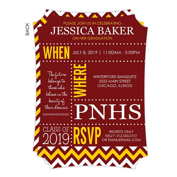 personalized graduation invitations school memories