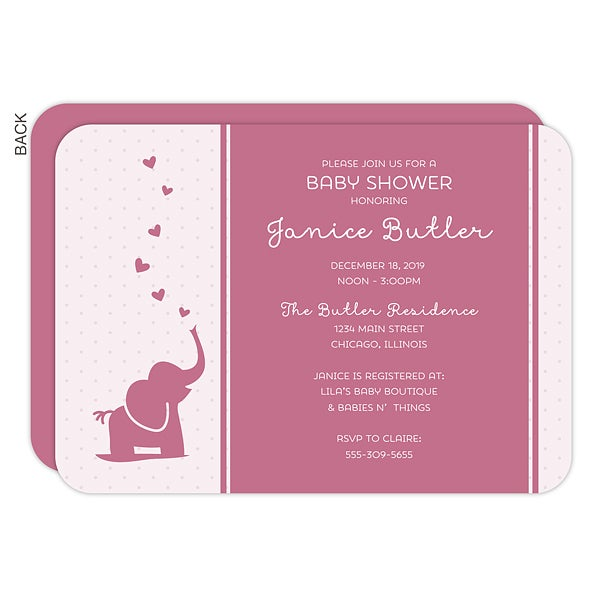 Personalized Baby Shower Invitations - Baby Zoo Animals - 16815