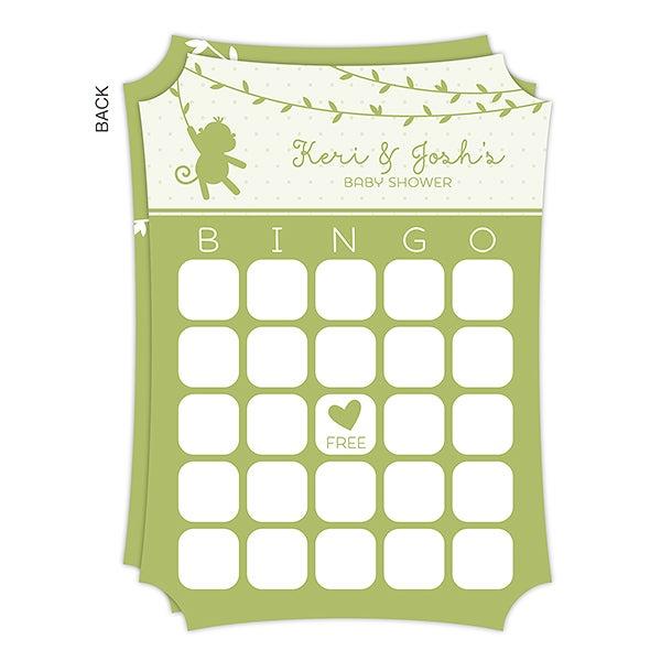 Personalized Baby Shower Bingo Cards - Baby Zoo Animals - 16822