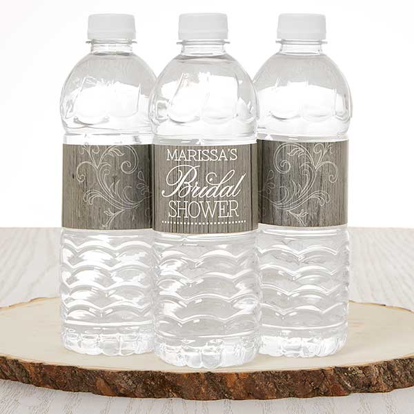 Personalized Water Bottle Labels - Rustic Bridal Shower - 16835