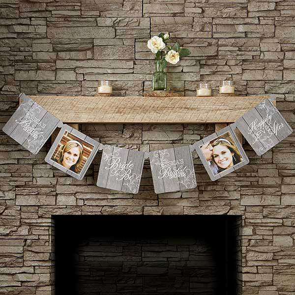 personalized photo banner rustic bridal shower 16838