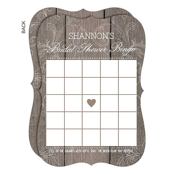 personalized bingo cards rustic bridal shower 16842