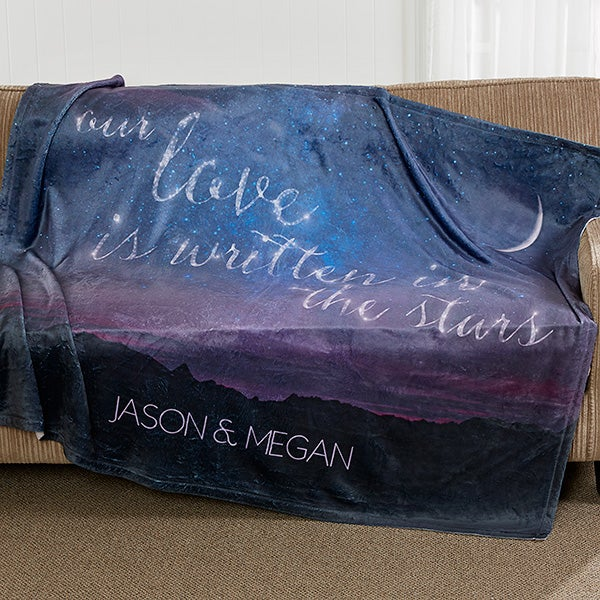 Personalized Couple Blankets - Love Written In The Stars - 16844