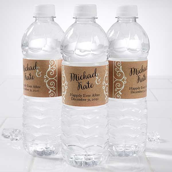 20 WEDDING RUSTIC BARN BUTTERFLY FAIRY LIGHTS Water Bottle Labels Personalized