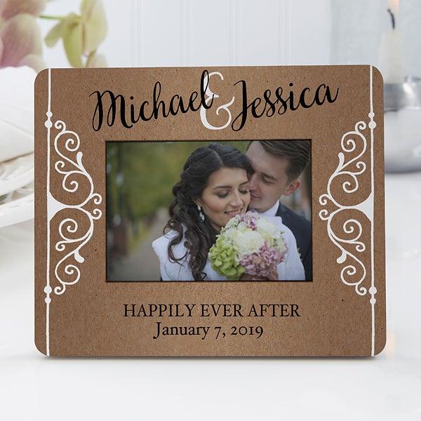 Personalized Mini Rustic Wedding Favor Frames - 16847