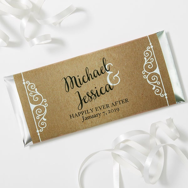 Personalized Rustic Wedding Favor Candy Bar Wrers 16848
