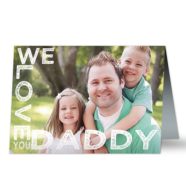 Personalized Photo Greeting Card - Loving Him - 16866