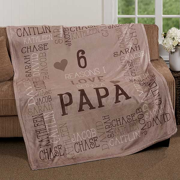 Personalized Fleece Blanket - Reasons Why For Him - 16876