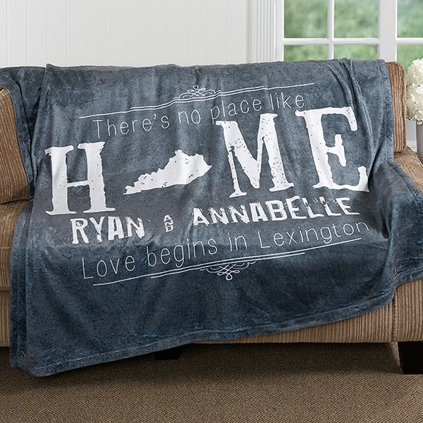 Personalized Fleece Blanket 40x40 State Of Love Wedding Gifts Best Personalized Wedding Throw Blanket