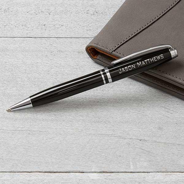 Personalized Pen - Black & Silver - 16915