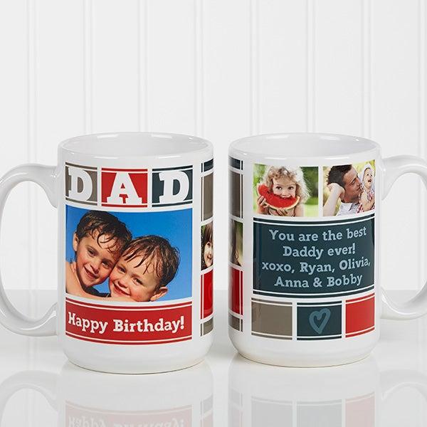Personalized Photo Coffee Mug - Dad Photo Collage - 16920