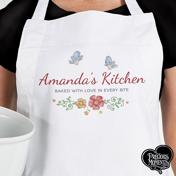 Personalized Apron & Potholder - Precious Moments Floral - 16926