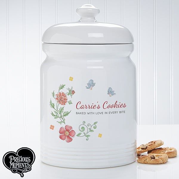 Personalized Cookie Jar - Precious Moments Floral - 16928