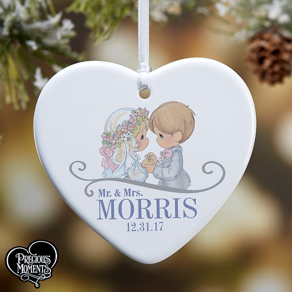Precious Moments Personalized Wedding Ornaments  - 16937
