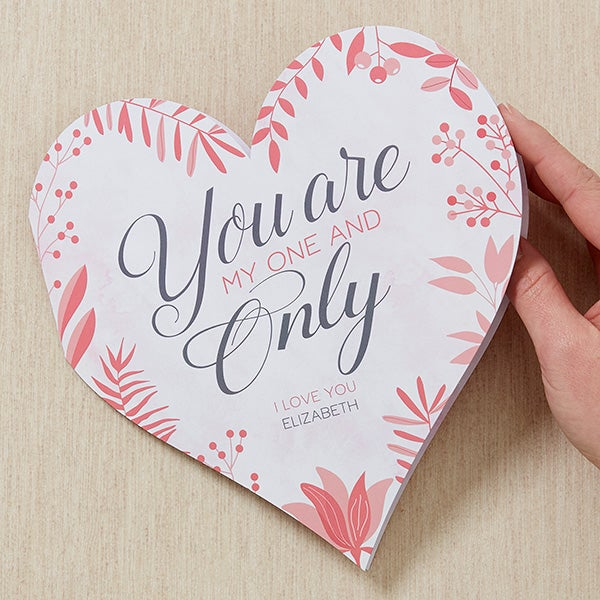 Personalized Romantic Heart Greeting Card - My One & Only - 16941