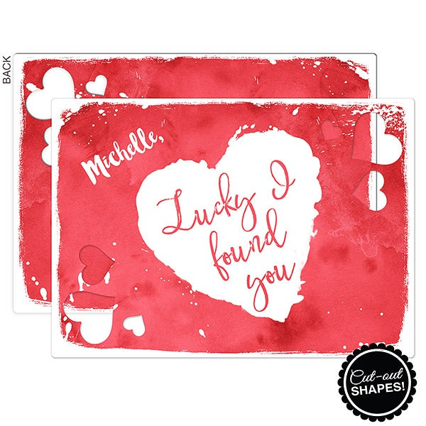 Personalized Romantic Greeting Cards - Lucky I Found You - 16944