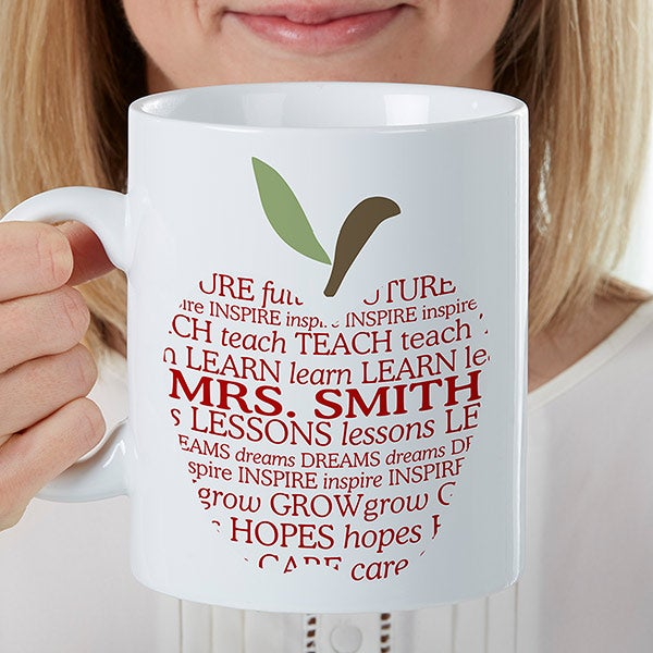 Personalized Oversized Coffee Mugs - Teacher Gift - 16951