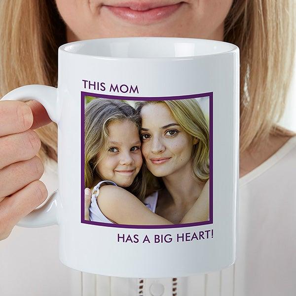 Personalized Oversized Coffee Mug - 1 Photo Mug - 16960