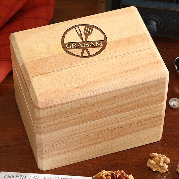 Personalized Recipe Box - Family Brand - 16962