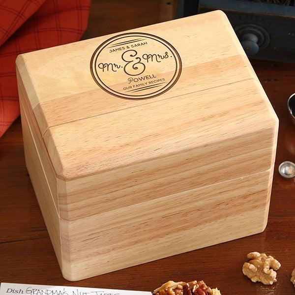 Personalized Wedding Recipe Box - Circle Of Love - 16963