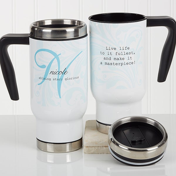 Personalized Commuter Travel Mug Name Meaning 16969