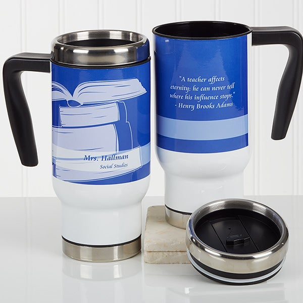 Personalized Travel Mugs - Teacher Gift - 16972