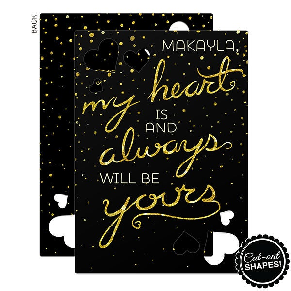Personalized Heart Cutout Greeting Cards - My Heart Is - 16997