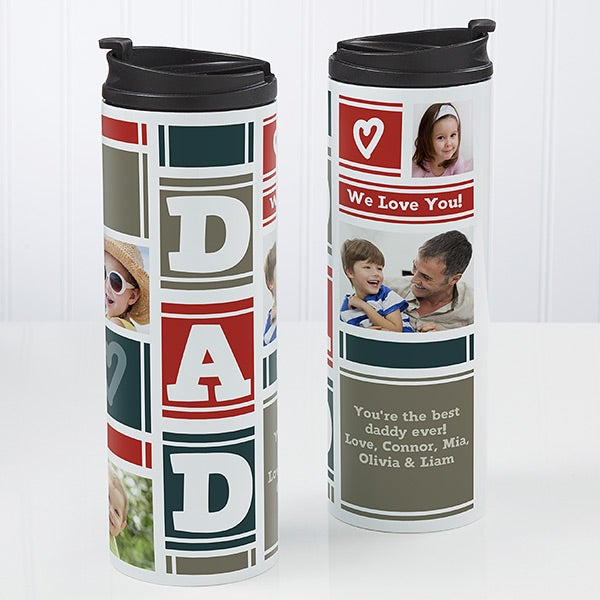 Dad Photo Collage Travel Tumbler