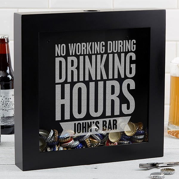 Beer Quotes Personalized Beer Cap Shadow Box