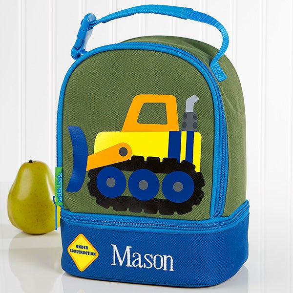 Embroidered Kids Lunch Bag By Stephen Joseph - Construction - 17030