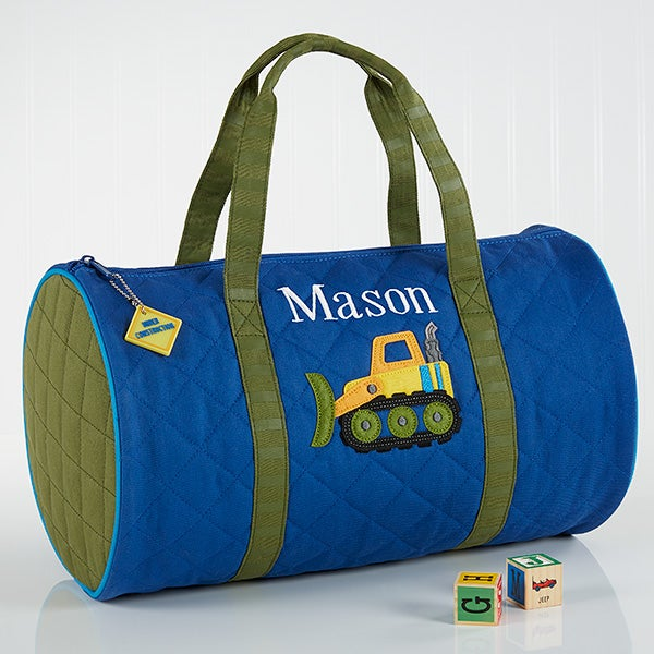 Construction Embroidered Duffel Bag by Stephen Joseph - 17031