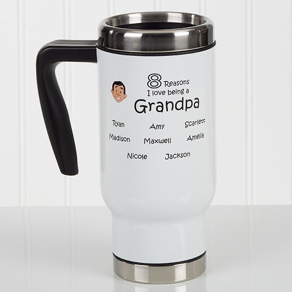 Personalized Grandparent Commuter Travel Mug - So Many Reasons - 17055