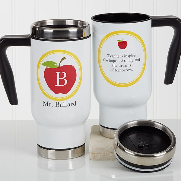 Personalized Commuter Travel Mug - Teachers Inspire - 17056
