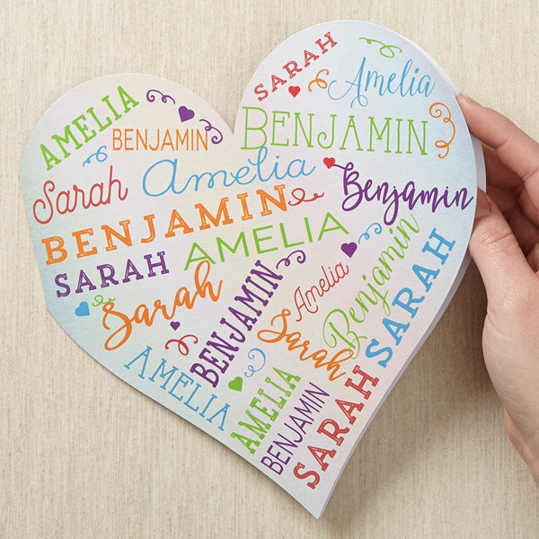 Personalized Heart Greeting Card - Her Heart Of Love - 17060