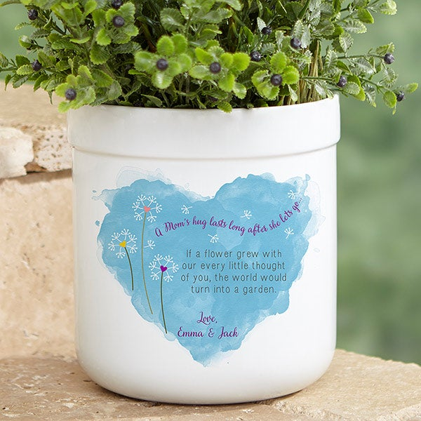 Personalized Outdoor Flower Pot - A Mom's Hug - 17066