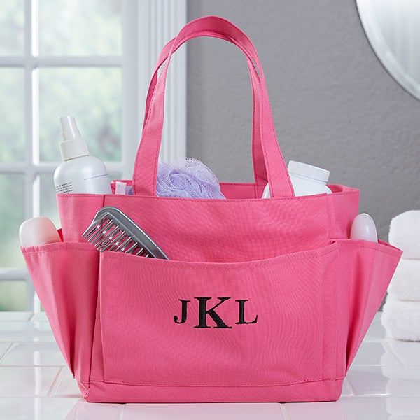 Pink Perfection Embroidered Shower Caddy - 17071
