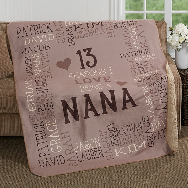 Personalized Premium Sherpa Blanket - Reasons Why For Her - 17085