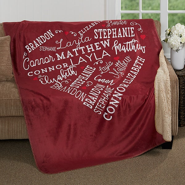 Close To Her Heart Personalized Premium Sherpa Blanket