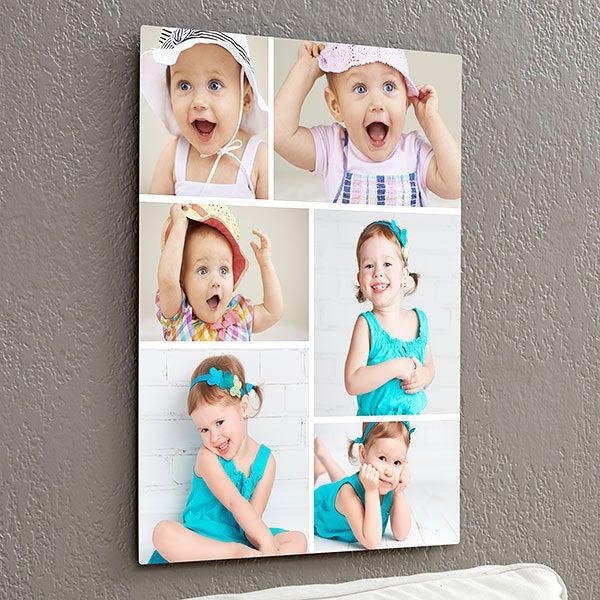 Personalize Chromoluxe Photo Metal Panels - 6 Photo Collage - 17090