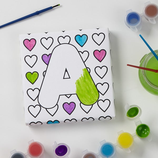Personalized Kids Coloring Canvas Prints - Paint It!