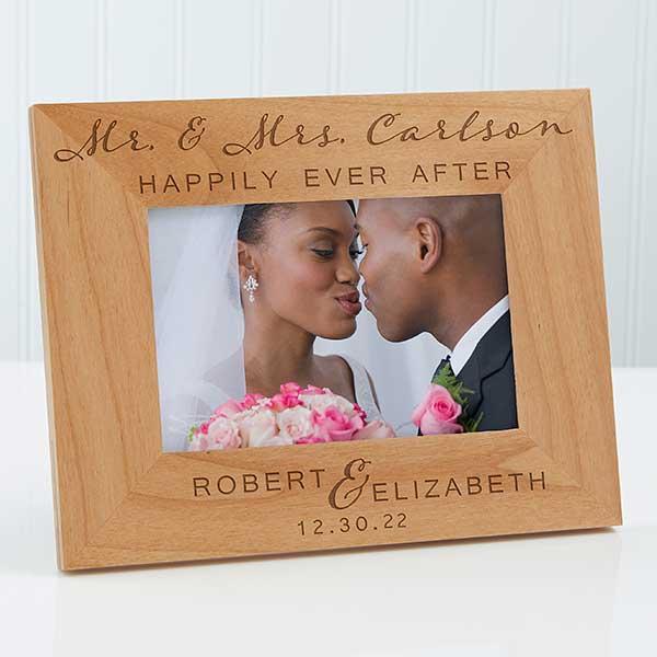 Personalized Wood Wedding Frame Wedding Elegance 4x6 Wedding Gifts